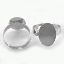 Antiikhõbedane sõrmuse toorik/alaga17x12mm
