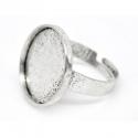 Antiikhõbedane sõrmuse toorik alaga/18,5mm