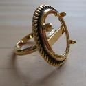 Antiikkuldne sõrmuse toorik/alaga18x13mm