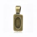 Antiikpronks alusripats klaasile/28x10