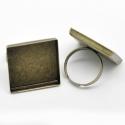 Antiikpronks sõrmuse toorik kandiline/25mm