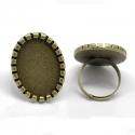 Antiikpronks sõrmuse toorik alaga/25x18mm/nr2