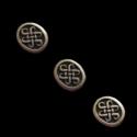 Antiikpronksi värvi vahehelmes/12x10mm