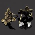 Vintage kõrvarõnga toorik lillega/14x15mm