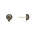Antiikpronks kõrvarõngad filigraan palliga/8mm