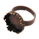 Antiikvaskne sõrmuse toorik/alaga 15mm