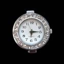 Hõbedane kella toorik kristallidega29x27mm