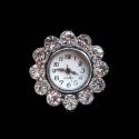 Hõbedane valgete kristallidega kellatoorik