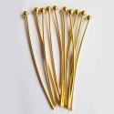 Kuldsed ehtenõelad palliga30mm/10tk