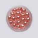 Heleroosa läbikumav klaaspärli tilk/11 x 8 mm