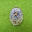 Kamee sinise lillega/nr3/18x13mm