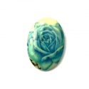 Kamee sinise roosiga/18x13mm