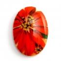 Kaunis kamee/punane lill/18x13mm