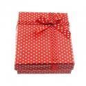 Kinkekarp punane/täpiline/9x7x2,6cm