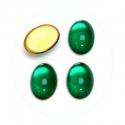 Klaaskamee/14 x 10mm/smaragd