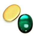 Klaaskamee 25x18x7mm/smaragd