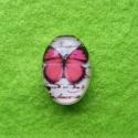 Klaaskamee roosa libikaga/18x13mm