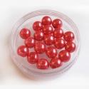 Klaaspärl/punane /8mm/10tk