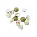 Kleebitav kristall/valge AB läikega/2,2mm/10tk.