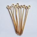 Kuldsed ehtenõelad aasaga/35mm/10tk