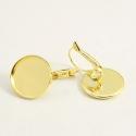 Kuldsed messing kõrvarõngad/alaga16mm