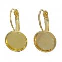Kuldsed messing kõrvarõngad/alaga 12 mm