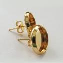 Kullaga kaetud kõrvarõngad/alaga 10 mm