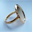 Kullatud sõrmuse toorik/alaga18x13mm