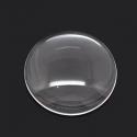 Läbipaistev klaasist kamee, ümmargune/20 mm
