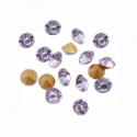 Lillat värvi klaasist kleebitav kristall/2 mm