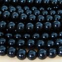 Mustad kaetud klaaspärlid/8mm/10tk