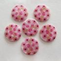 Naturaalne pärlmutter helmes/roosad lilled/30mm.