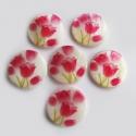 Pärlmutter helmes/roosa tulp/25 mm.