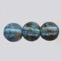 Pintseldatud klaashelmes/helesinine 8mm