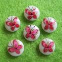 Portselanist kamee roosa liblikaga/8mm