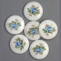 Portselanist sinine roos/18mm