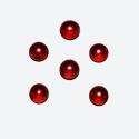 Punane läbikumav klaaspärl 8mm/10tk