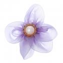 Riidest lill alkrüülist pärliga/lilla/7 cm