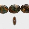 Rohekas-pruun opaal/18x13mm