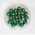 Roheline klaaspärl/8mm/10tk