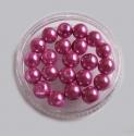 Roosat värvi klaaspärl/8mm/10 tk