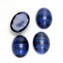 Sinise-kirju triibuline klaaskamee/14x10mm