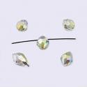Tahutud klaaspärli tilk/must teemant
