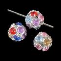 Värviliste kristallidega vahehelmes/8mm