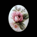 Vintage kamee lilla roosiga /30x40mm