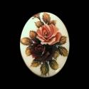 Vintage kamee roosidega/2/30x40mm