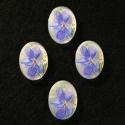 Vintage kamee sinise lillega/nr2/18x13mm