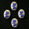 Vintage kamee sinise lillega/nr1/18x13mm