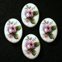 Vintage lilla roosiga kamee/25x18mm