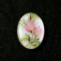 Vintage stiilis kamee roosa lillega/25x18mm
